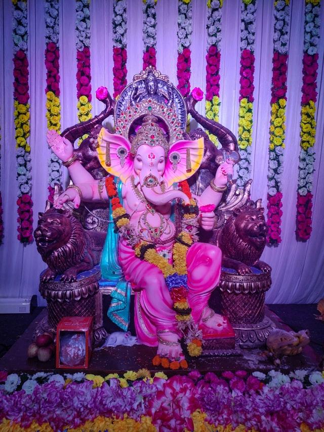 Ganpati-folower-decoration