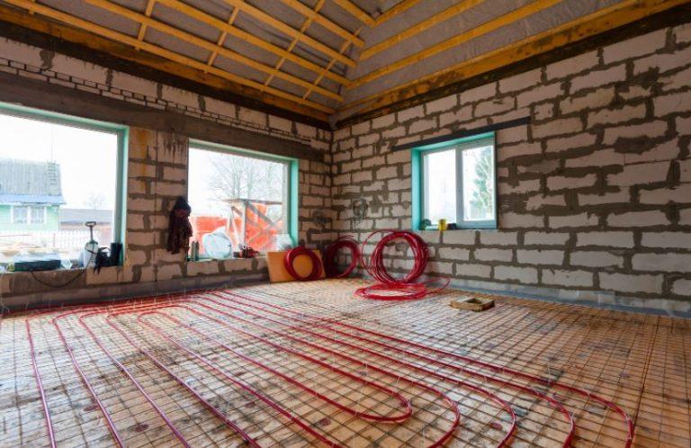 Tips when installing floor heating system